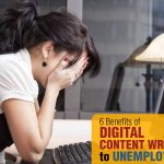 A Girl Trying to find work | 6 Benefits of Digital Content Writing Course to Unemployed