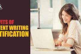 A Professional happy with her work | Benefits of Content Writing Certification